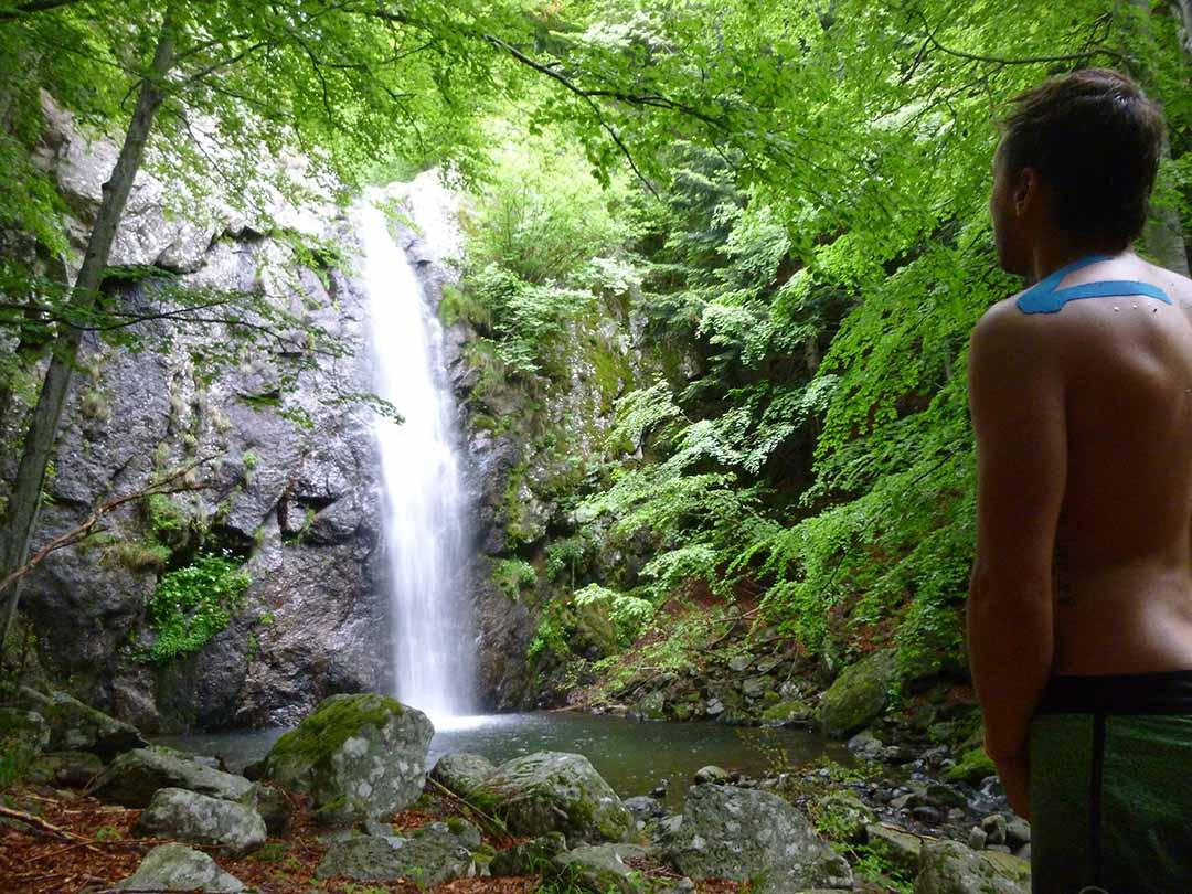 découverte d'une belle cascade en Ardèche