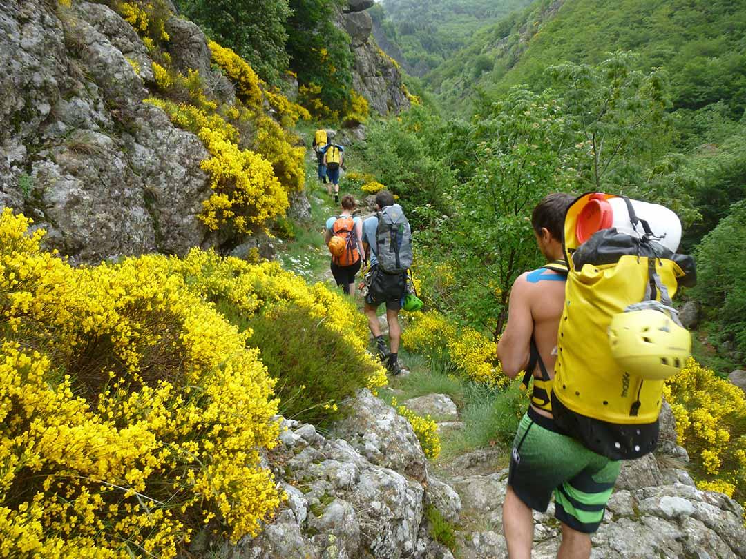 Expédition canyon en Ardèche