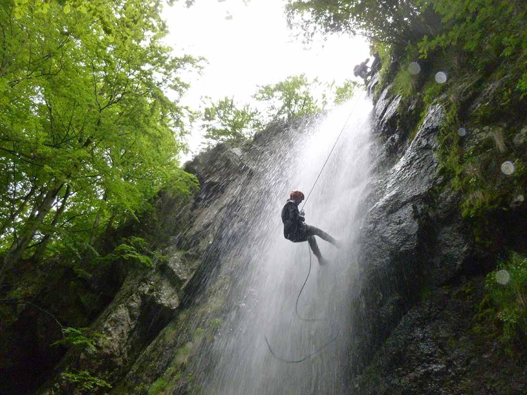 rappel du Canyon en Ardèche