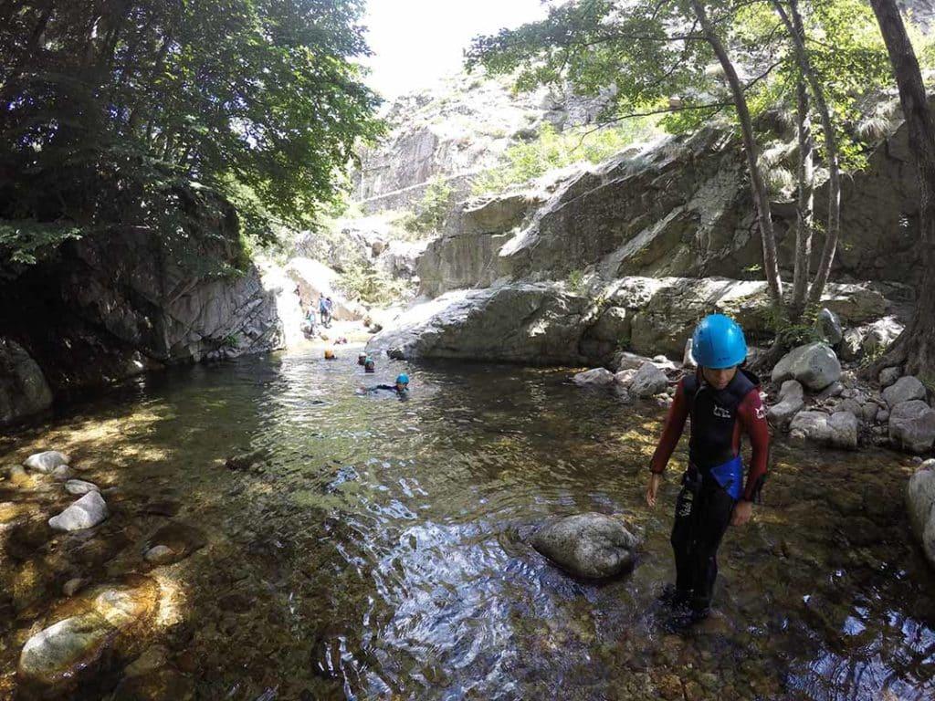 canyon familiale dan sle canyon de la haute ardèche