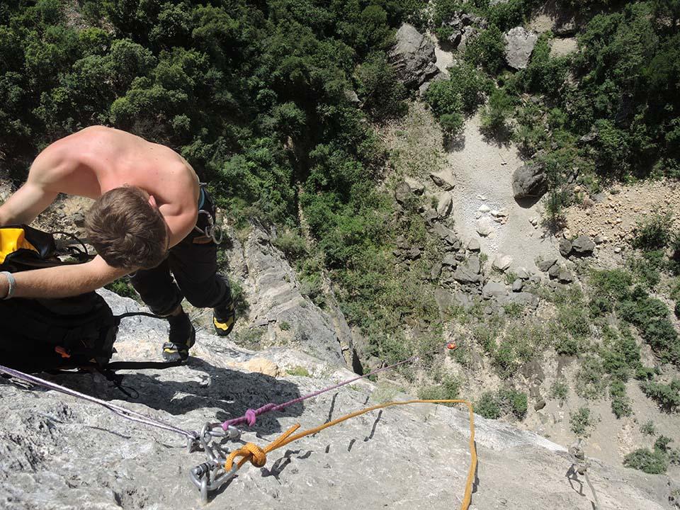 Rappel canyon Ardèche Pissevielle