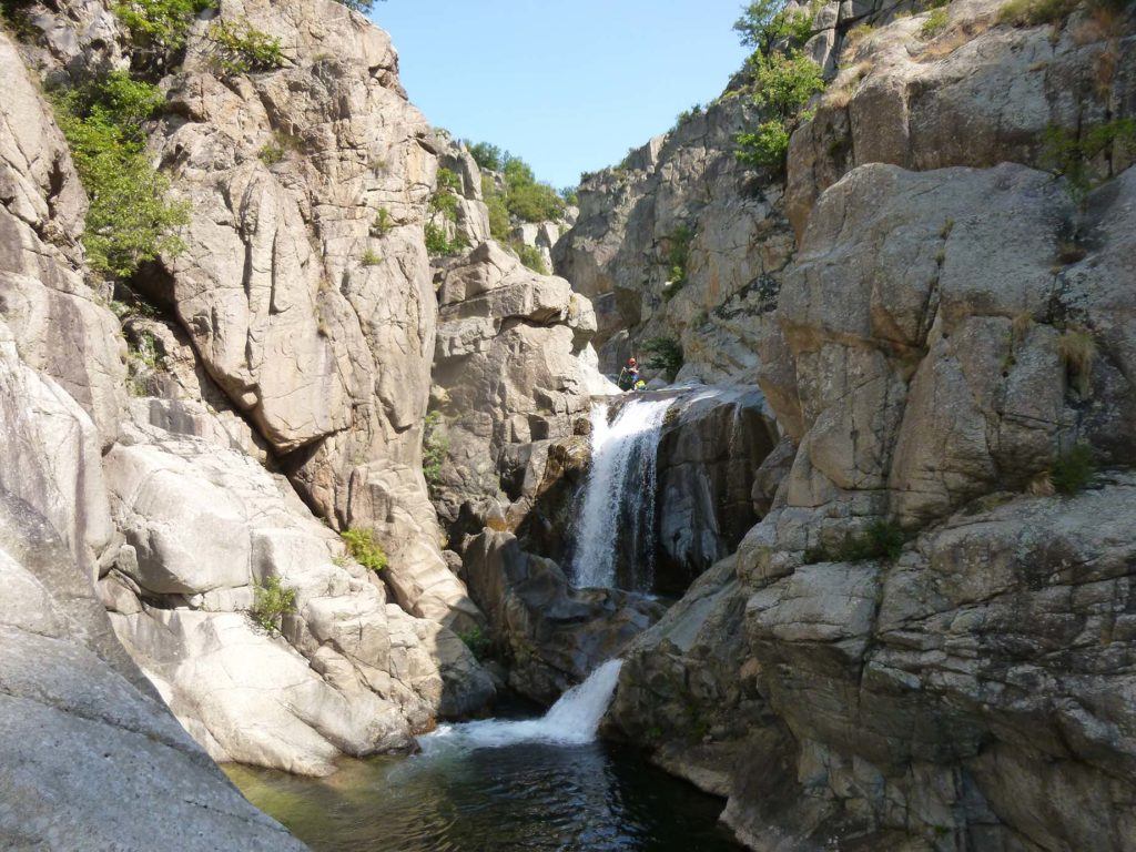 Cascade du Chassezac canyoning